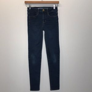 AMERICAN EAGLE OUTFITTERS Dark Wash Jegging 0